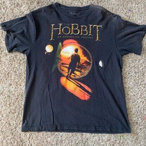 Vintage Black Lord of the Rings the Hobbit Shirt